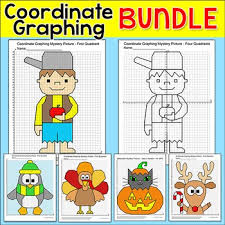 coordinate graphing ordered pairs bundle thanksgiving math