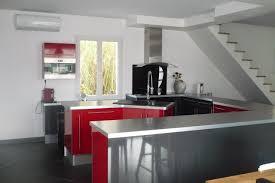 cuisine blanche et grise cuisine blanche et rouge 0 cuisines sur mesure et premier prix