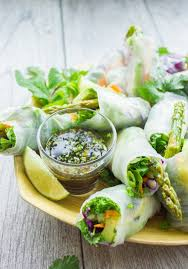 rice paper wraps where to buy thai style rice paper rolls with two dipping sauces two purple figs