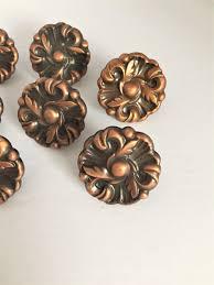 copper drawer pulls vintage rose copper knobs copper drawer knobs