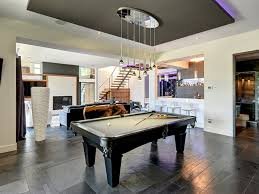 Pool Table Ceiling Lights Room Idea Featured Modern Billiard Table And Low Ceiling