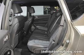 2017 ssangyong rexton rear seat at iaa 2017 indian autos blog