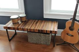 reclaimed black walnut and oak wood bench fritz and sparrow
