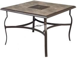 ceramic tile top patio table hton bay belleville 40 in square patio dining table ceramic tile