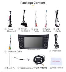 car dvd player for 2004 2011 mercedes benz cls w219 with gps radio