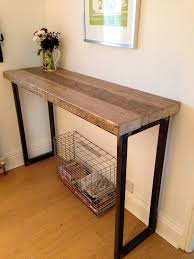 Reclaimed Wood Bar Table Industrial Mill Reclaimed Wood Breakfast Bar Console Table
