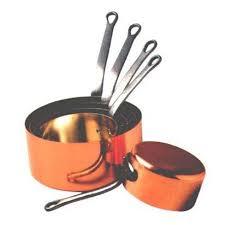 batterie de cuisine en cuivre a vendre série 5 casseroles cuivre etamé 12 à 20 cm achat vente casserole