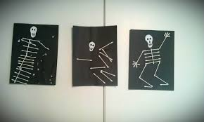 Halloween Skeleton Cut Out by Q Tip Skeleton Halloween Craft For Kids Woo Jr Kids Activities