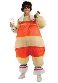 fat suit halloween inflatable 80s aerobic workout fatsuit funny retro costume ideas