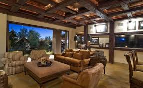 living room awesome cozy craftsman living room features exposed