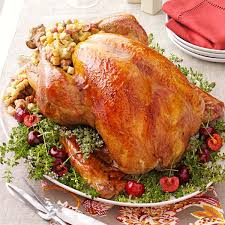 stuffed turkeys turkey with cherry recipe taste of home