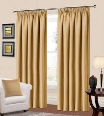 Living Room Curtain by Plain Blue Colour Thermal Blackout Readymade Bedroom Livingroom