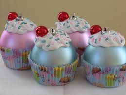 cupcake tree ornaments lights decoration