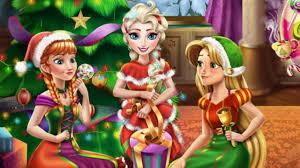 disney christmas party elsa anna and rapunzel christmas games