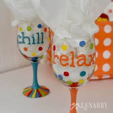 painted wine glasses how to make your own