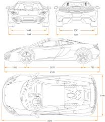 mclaren f1 drawing car blueprints mclaren mp4 12c blueprints vector drawings