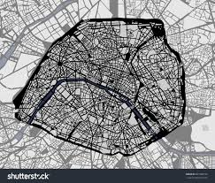 Map Of Paris France by Vector Map City Paris France Stock Vector 631908734 Shutterstock