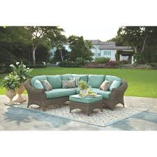 Martha Stewart Patio Furniture Cushions by Martha Stewart Living Lake Adela 4 Piece Weathered Gray All