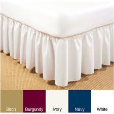 Daybed Dust Ruffle Ruffled Poplin 14 Inch Drop Daybed Bedskirt Free Shipping On