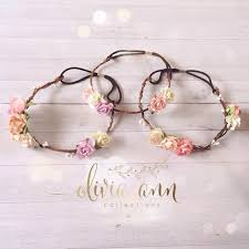 how to make baby flower headbands listing is for a dainty flower boho crown this delicate halo is