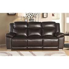 Top Grain Leather Reclining Sofa Abbyson Living Graham Top Grain Leather Reclining Sofa In Brown