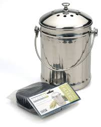 shop for stainless steel compost pail foodiekitchen com