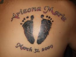 tattoos of baby feet business card size net