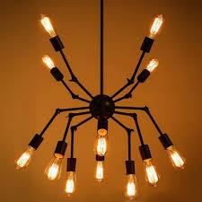 Atomic Lighting Atomic Style 12 Light Led Chandelier In Black Beautifulhalo