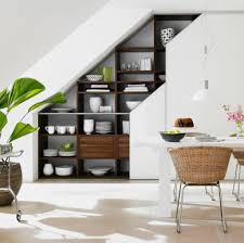 ergonomic small office under stairs furniture utilize small spaces