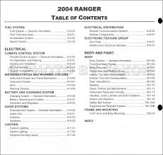 2004 ford ranger repair shop manual original