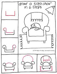 comment dessiner un canapé draw by journaling dessin