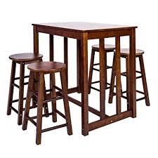high pub table set amazon com merax 5 piece dining table set high pub table set with
