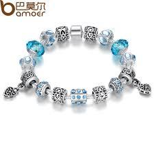 murano beads bracelet images Bamoer hot sell european style silver crystal charm bracelet for jpg