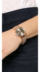martini rose marc by marc jacobs the slim 30mm watch rose gold dirty martini