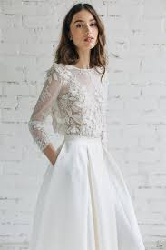 half lace wedding dress 30 trendy winter wedding dresses to get inspired weddingomania