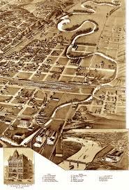 Iowa City Map Sioux City Iowa In 1888 Bird U0027s Eye View Aerial Map Panorama