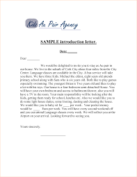 Business Introduction Letter Sample by Sample Business Introduction Letters Sample Business Introduction