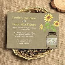 wedding invites cheap idea rustic sunflower wedding invitations or sunflower jars
