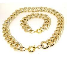chunky gold necklace fashion images Chunky gold necklace women 39 s bracelet fashion jewellry set 2013 jpg