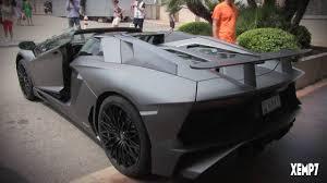 matte black lamborghini aventador roadster 2016 grigio lamborghini aventador lp750 4 sv roadster