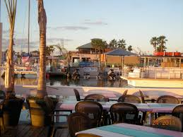 a view from louie u0027s backyard restaurant south padre island