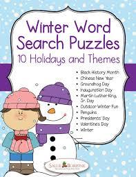 winter word search puzzles sallieborrink com