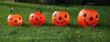 very merry vintage syle vintage happy jack plastic pumpkins