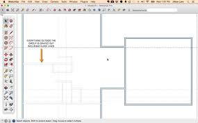 how to draw a 2d floor plan to scale in sketchup from field
