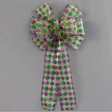 mardi gras bow harlequin sparkle mardi gras bow 8 wide package bows