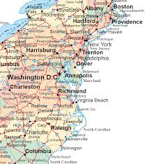 delaware road map usa middle atlantic states road map