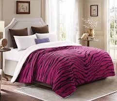 Pink Zebra Comforter Best Selling Lovely Sherpa Blanket Pink Black Zebra