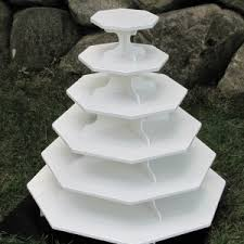 5 tier cupcake stand large octagon cupcake stand octagon 5 tier cupcake stand