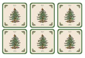 pimpernel tree coasters set of 6 spode usa