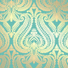 Temporary Wallpaper Uk Love Wallpaper Shimmer Damask Metallic Wallpaper Rich Teal Gold